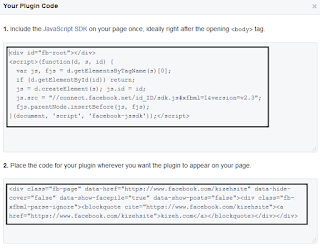 Code widget page like di facebook