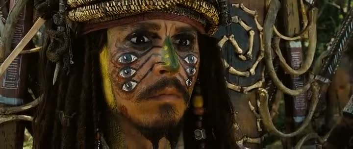 Screen Shot Of Hollywood Movie Pirates of the Caribbean 2 (2006) In Hindi English Full Movie Free Download And Watch Online at worldfree4u.com