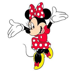 Minnie mouse contenta para imprimir