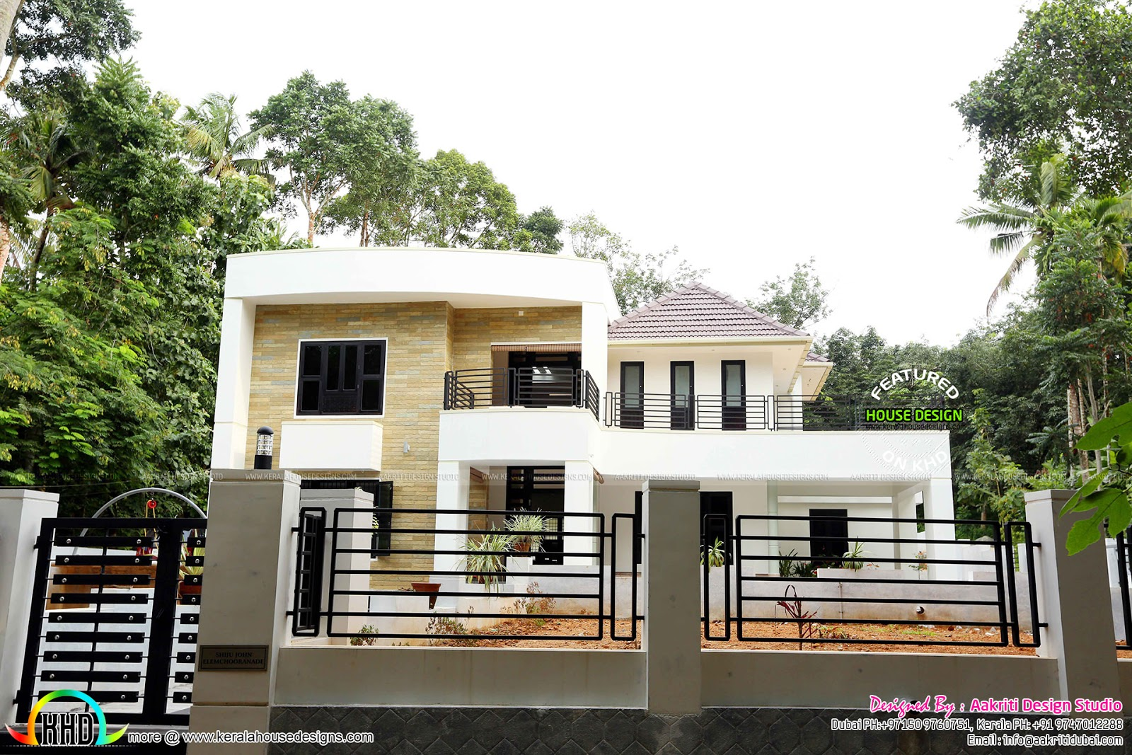 Front Elevation Villas : Finished villa at kolencheri ernakulam kerala home