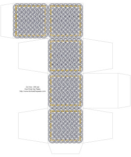 Chainmail inspired printable box- white