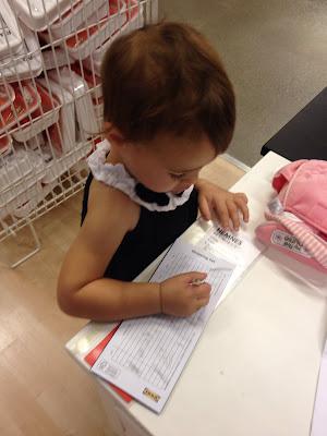 baby shopping at ikea