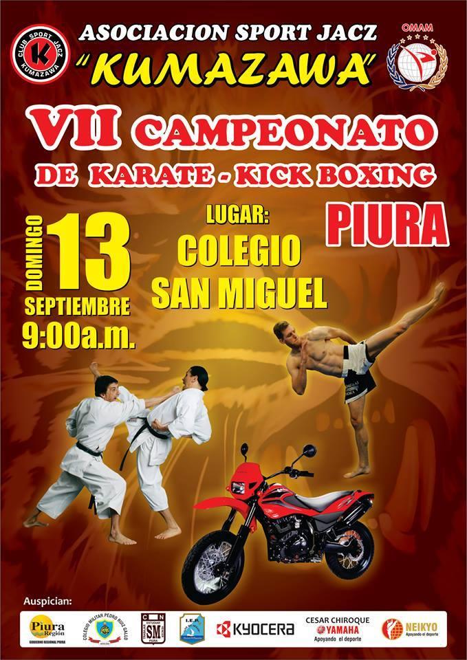 VII CAMPEONATO DE KARATE-KICK BOXING Piura-Perú