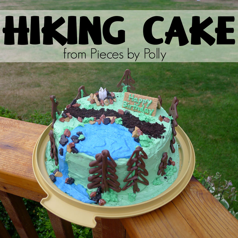 Cake Decorating Ideas Outdoors : Pieces by Polly: Hiking Cake: Tips and Tricks