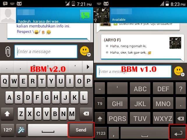 Cara Menambah Baris Baru Dengan Tombol Enter di BBM Android v2.3.0.14
