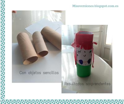 Manualidades, rollo papel higiénico, reciclar