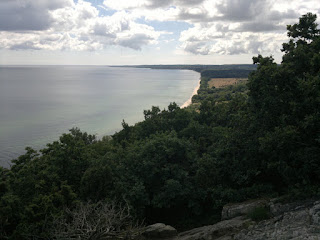 """South view of Stenshuvud """"mountain"""". You can see Rörums Beach down there"""