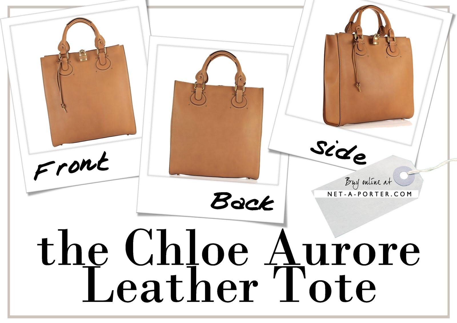 My Latest Handbag Love Affair - The Chloe Aurore Leather Tote ...