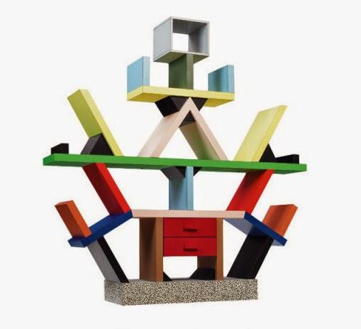 Dise o interior posmodernismo for Libreria carlton