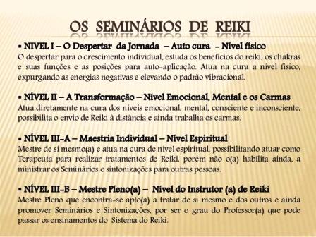 OS CURSOS DE REIKI