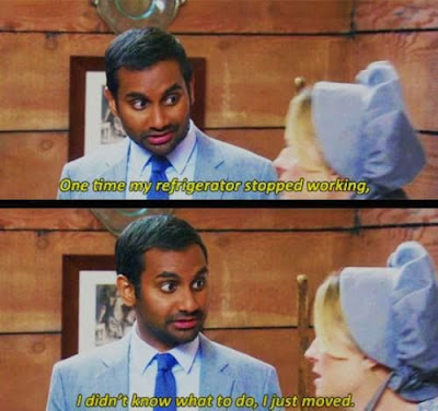 Parks & Rec, Parks and Rec, Parks & Rec quotes, Aziz quotes, aziz ansari quotes, leslie knope, leslie knope quotes, tom haverford, tom haverford refrigerator, rich people problems, television quotes, greatest lines from Parks & Rec