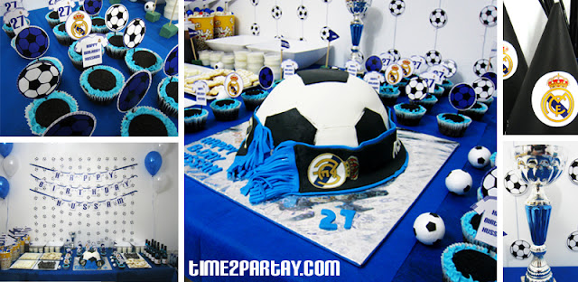 Real madrid soccer themed party for Decoration chambre real madrid