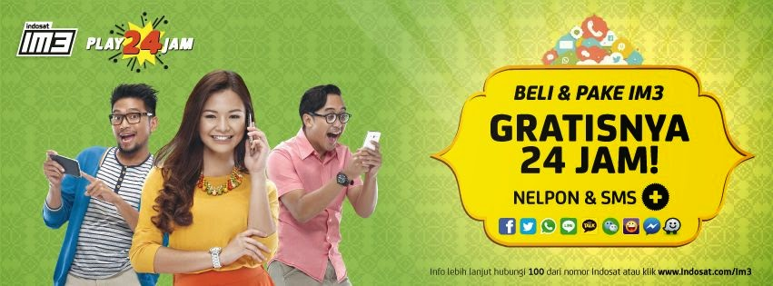 Gratis 24 jam Telepon dan SMS IM3