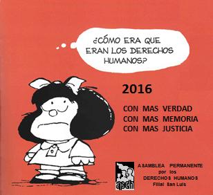 2016 Unirnos por la plena vigencia de los derechos humanos