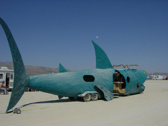 Shark Burning Man Mutant Vehicle