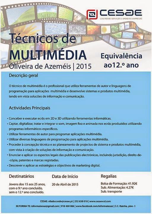 Curso remunerado para jovens – Oliveira de Azeméis (equivalência 12º ano)