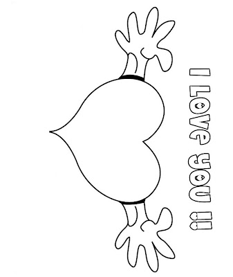 Kids Realistic Valentines Coloring Pages I Love You