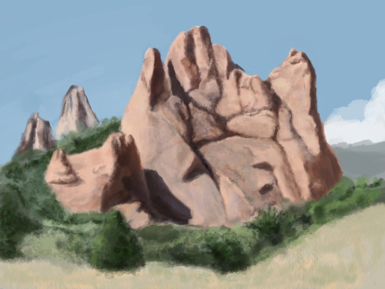 Utah desert landscape Photoshop study 3