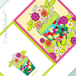 RETRO 70's FLOWER POWER NOTECARD