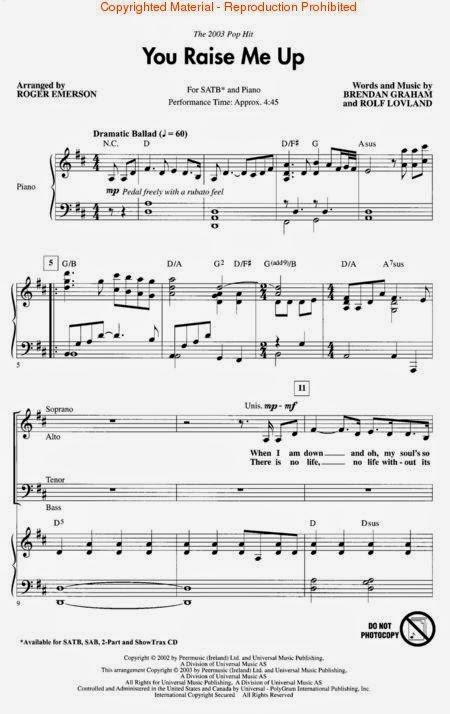not angka lagu,you raise me up,lagu barat