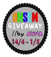 OHSEM Giveaway by Ayna