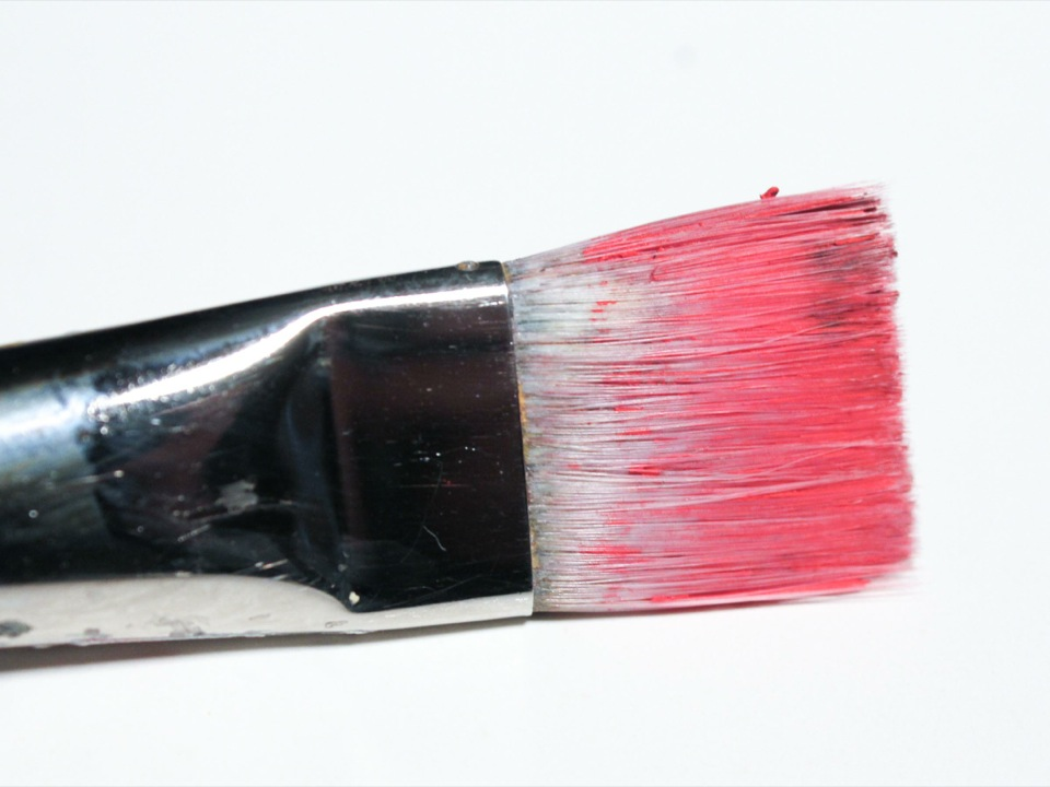 the paintbrush after it soaked for an hour and I cleaned it
