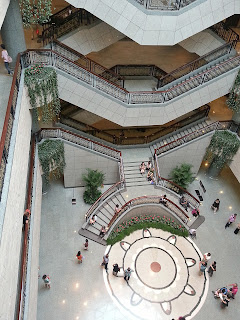 Central lobby of the Shanghai Museum from the 4th floor