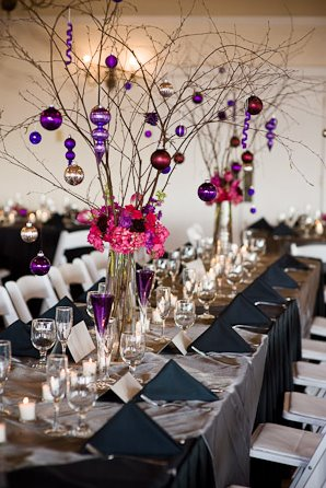 Christmas Wedding Centerpiece Inspiration