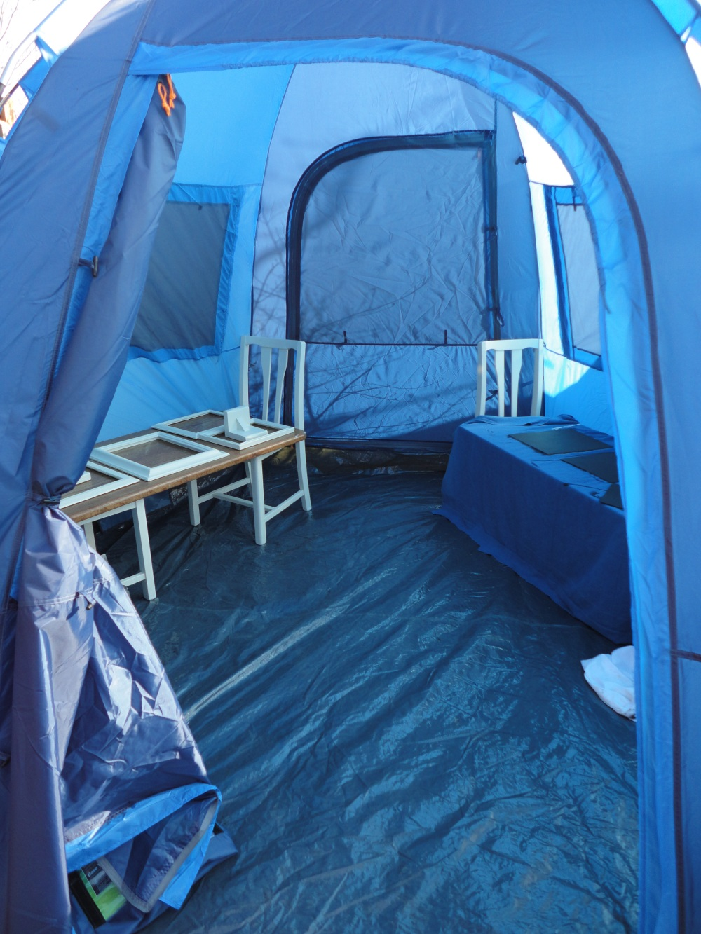 Then over the weekend I discovered the base tent that halfords make - itu0027s only £40 and huge - loads of space to paint and loads of headroom - really ... & Rescue and Revive - Use something old to create something new ...