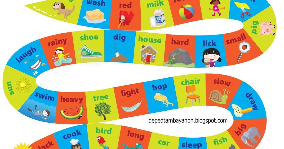 Nouns, Verbs and Adjectives Board Game | DEPED TAMBAYAN PH