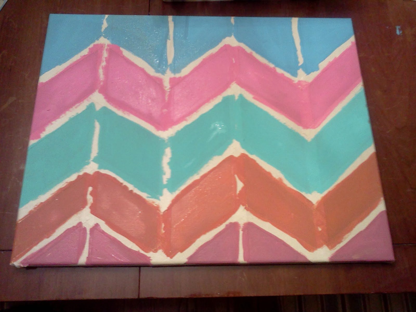 before after and recipes in between easy diy colorful chevron