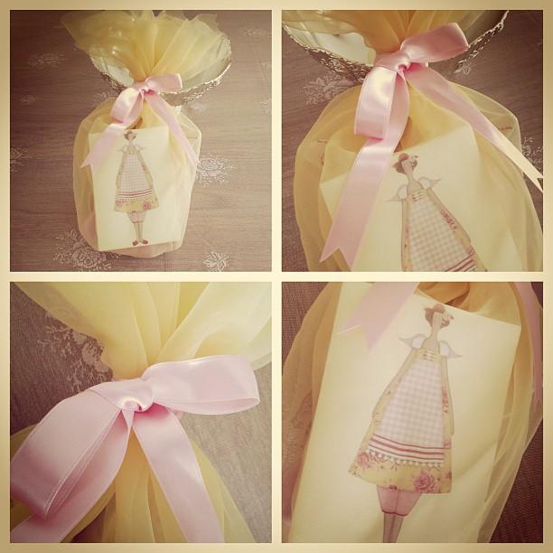 Craft and Decorate Blog - Tilda doll, dressing gown angel, handmade, gift card, gift wrap, hediye paketi