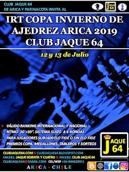 IRT COPA INVIERNO ARICA 2019, SUB 1600 FIDE