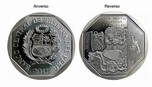 moneda alusiva al arte textil paracas