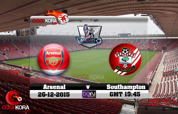 مشاهدة مباراة ساوثهامبتون وآرسنال اليوم 26-12-2015 في الدوري الانجليزي