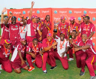 West Indies Team Celebrate