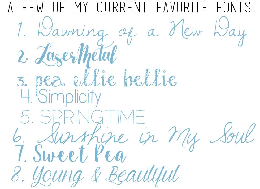 fonts free favorite spring graphics blogging