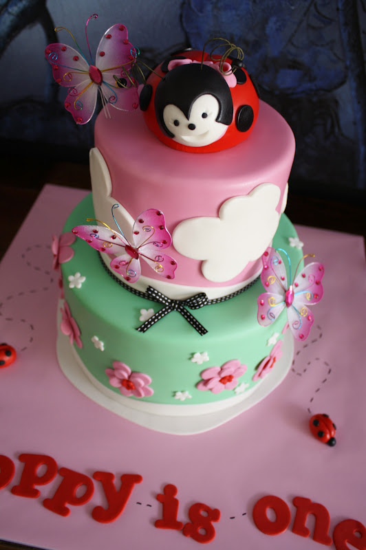 Sandys Cakes Poppys Ladybug 1st Birthday Cake