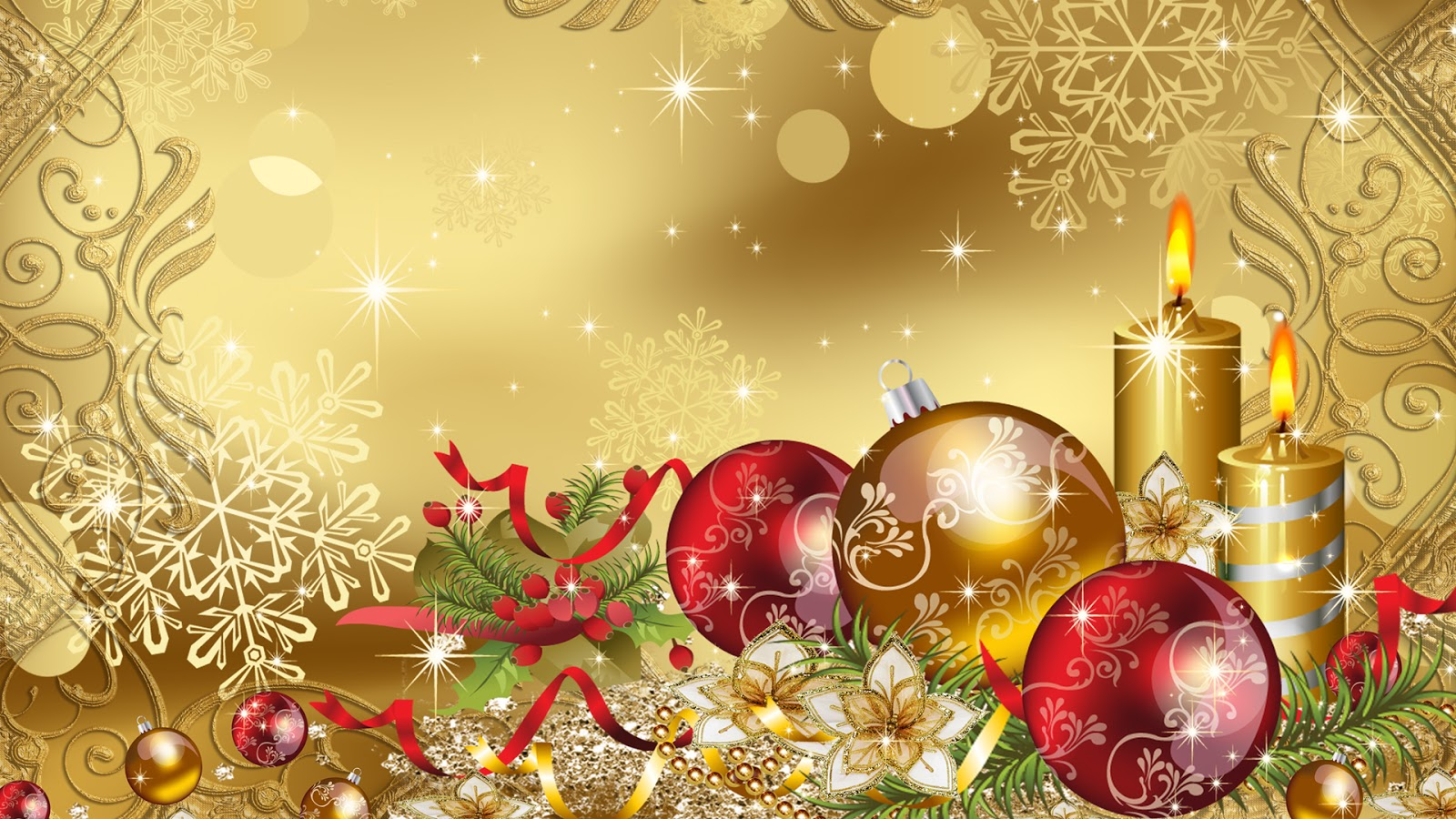 Gold Christmas Desktop