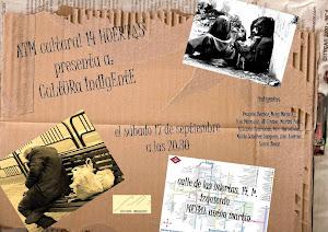 """Presentación-recital """"Cultura indigente"""".Septiembre 2011"""