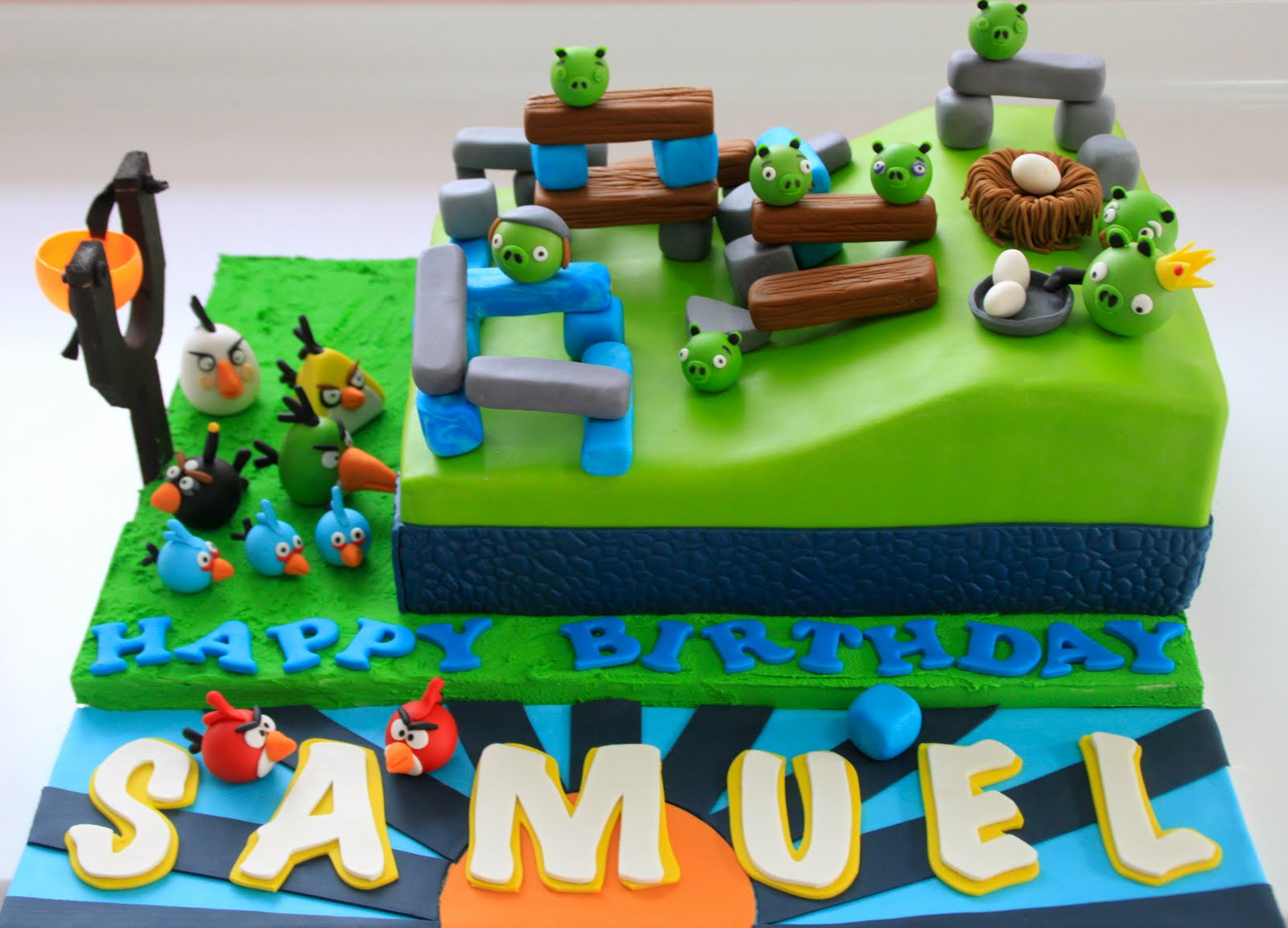 Images Of Angry Birds Cake : Celebrate with Cake!: Playable Angry Birds Cake