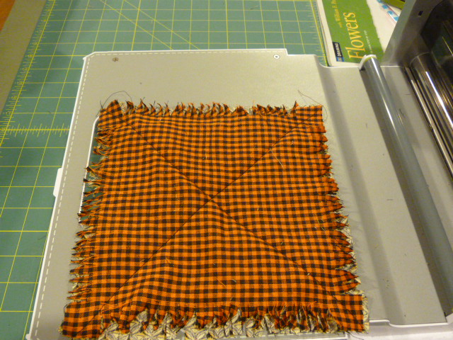 Oneoldstitch for 10 minute table runner with batting