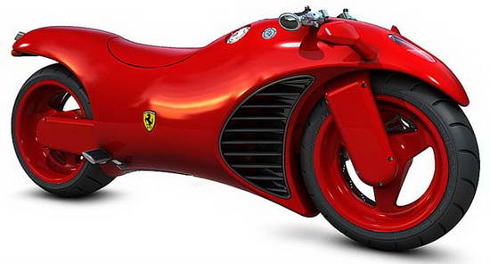 Ferrari Tron Inspired Motorcycle