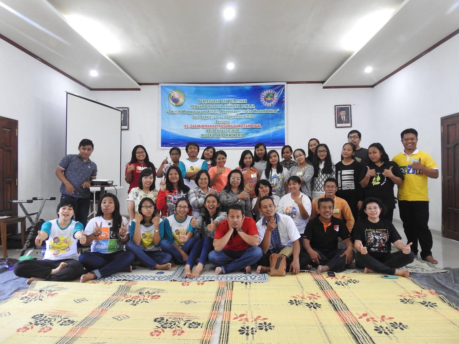 Bersama Para Pendamping PIA Dekenat Timur Keuskupan Purwokerto (24-25 September 2016)
