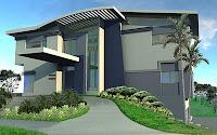 Foto de diseño de casa moderna con palmeras