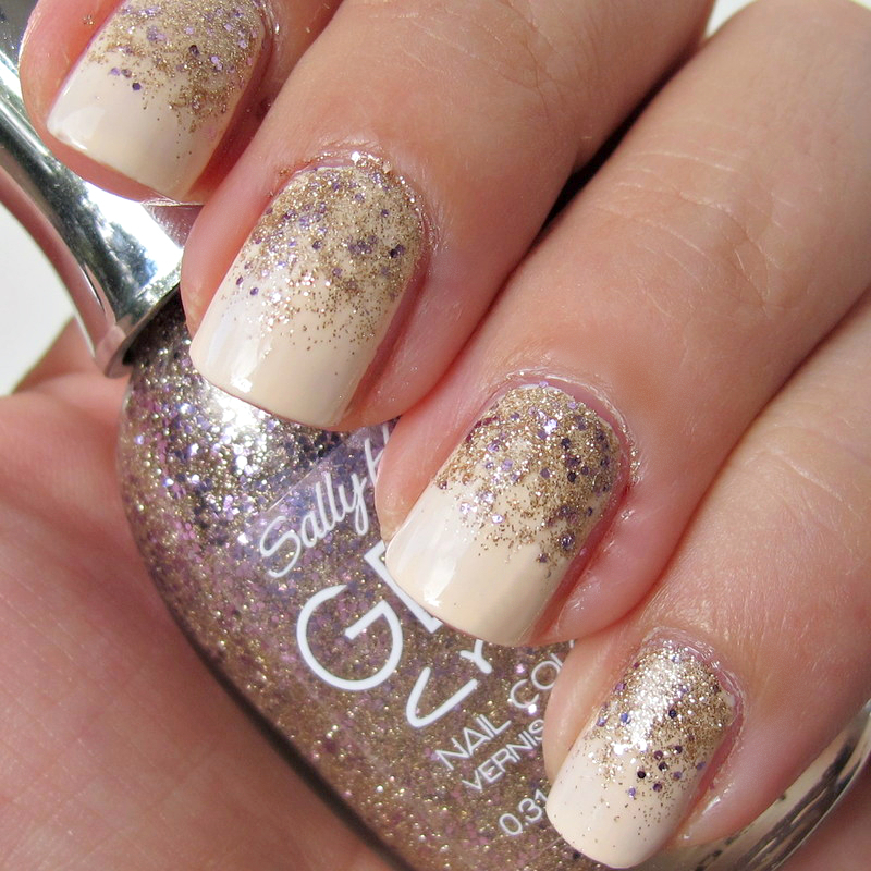 colour and golden glitter the overall look is festive without