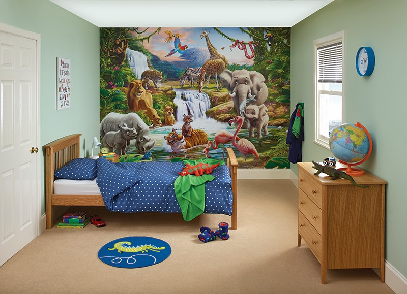 Jungle bedroom mural