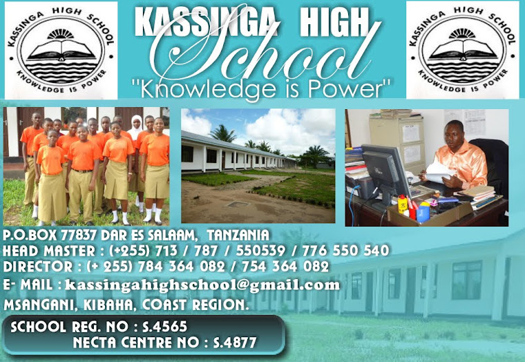 KASSINGA HIGH SCHOOL ADVERT