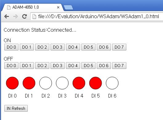 Smart ia html javascript web arduino adam