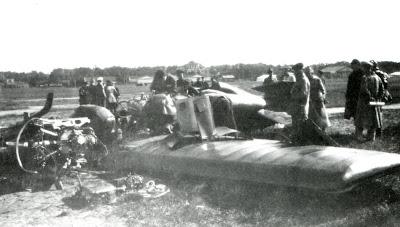 Разбор обломков ИЛ-400
